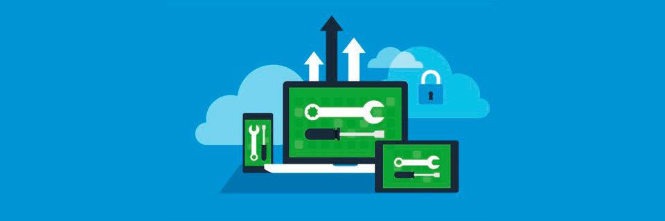 Mit VMware Workspace ONE und AirWatch lassen sich isolierte Cloud- und mobile Lösungen über einen plattformbasierten Ansatz weiterentwickeln, um Mitarbeiter, Endgeräte und Dinge in den digitalen Transformationsprozess einzubeziehen.