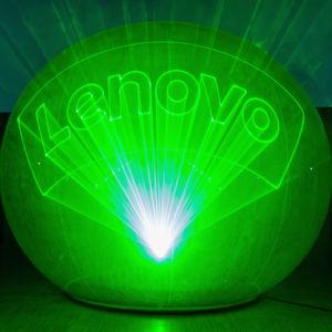 """Das Event startete mit einer großen Lasershow mit dem """"Lasermen""""."""