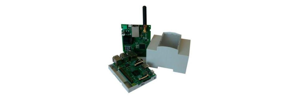 Raspberry Pi (unten) und FunkPi: Das System für Hausautomatisierungsprojekte passt in ein Standard-Hutschienengehäuse