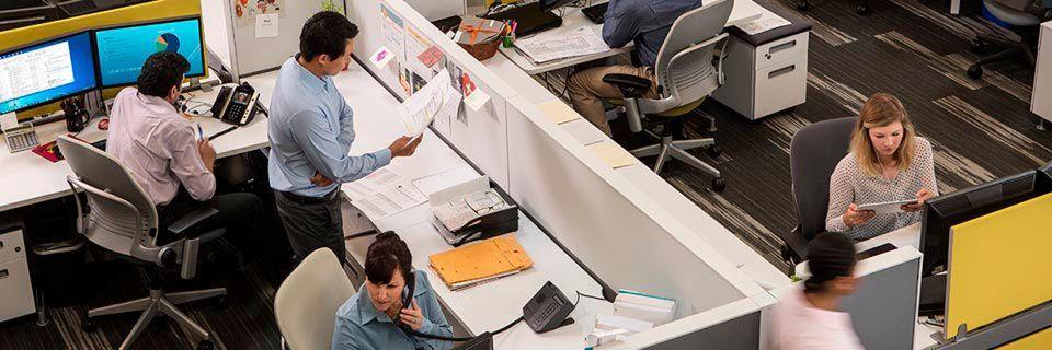 Polycom ist überzeugt: Die Tage starrer Präsenzkultur sind gezählt. Dies wäre das Ende des Großraumbüros.