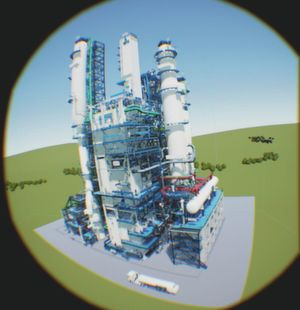 The new virtual reality application in the field of plant engineering was developed for training operators