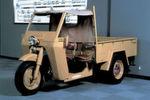 Die Japaner waren auch Spezialisten für Dreiräder, zu sehen am Modell Mizushima aus dem Jahr 1947 ...