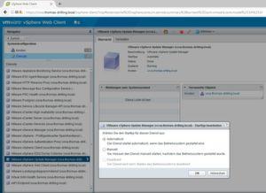 Die zugehörige Server-Komponente von VUM lässt sich in Version 6.5 einfach als Dienst in der VCSA aktivieren.