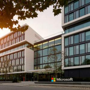 Die Microsoft-Zentrale in Schwabing.