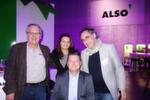 (v. l.) Eberhard Bunge, ebunet, Ivonne Schlottmann, Webinstore, Reiner Schwitzki, ALSO, und Andreas Raum, freyraum