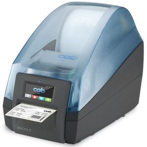 Etikettendrucker Mach-4 S mit geschlossenem Deckel. Beim Öffnen wird seitlich keine zusätzliche Fläche benötigt.