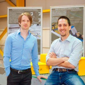 """Erfinder der """"Dock-and-go""""-Lösung (v.l.): Dr. Andreas Wolfschluckner und Dr. Matthias Fritz."""