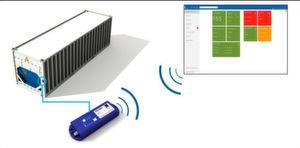 """Der """"Tag"""" übermittelt per Funk alle 15 min die relevanten Reefer-Daten an CTAS Reefer, das wiederum mit dem Terminal Operating System von C. Steinweg verbunden ist."""