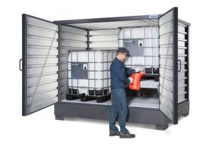 Die neuen Gefahrstoff-Regallager Solidmaxx bieten in vier Größen verschiedene Konfigurationsmöglichkeiten.