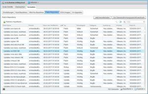 Der erste Blick nach der initialen Konfiguration von VUm gilt stets dem akuellen Inhalt des Patch-Repositories.