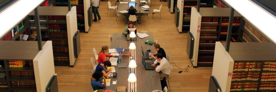 Bibliothek in der Uni Gent