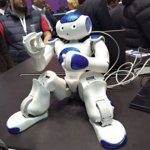Serviceroboter waren auf der Cebit eher noch Spielerei. Dafür gab es, wie hier am Stand von IBM, spannende Fortschritte im Bereich Cognitive Computing und Sprachsteuerung zu bestaunen.