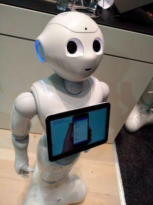 Pepper am Stand von IBM