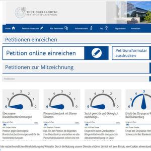"""Auf der Petitionsplattform des Thüringer Landtags werden derzeit etwa Unterschriften für den Erhalt des Chrysopras-Wehres in Bad Blankenburg gesammelt, ebenso wie für """"eine sozial gerechte und ökologisch nachhaltige Abwasserpolitik""""."""