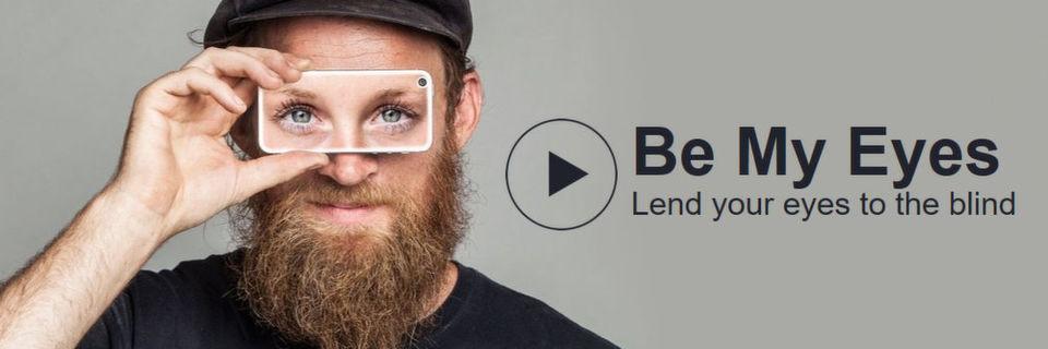 """Derzeit existiert die App """"Be My Eyes"""" nur für iOS-Geräte. Anroid-Nutzer können auf der Homepage ihre eMail-Adresse hinterlassen und werden benachrichtigt, sobald die App fertig ist"""