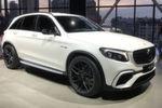 Mercedes nutzt die Messe als Schaufenster für PS-starke AMG-Modelle wie den GLC 63 ...