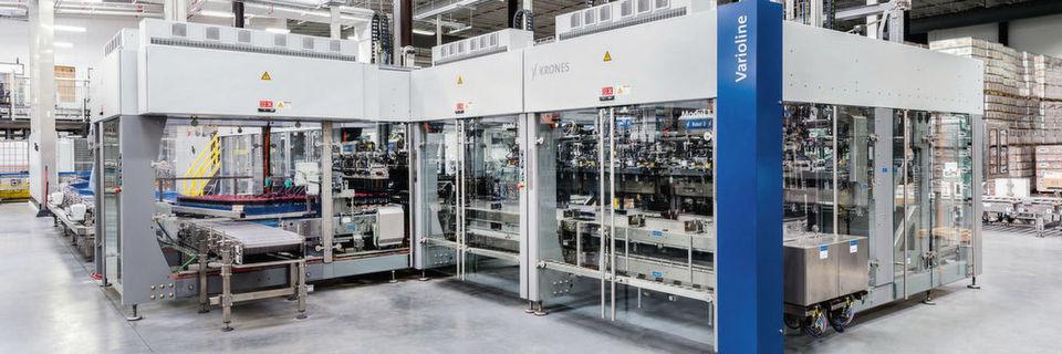 Die Verpackungsmaschine Varioline ersetzt bis zu sechs Einzelmaschinen.