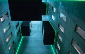 Das markante 7-geschossige Bauwerk ist in Architektur und Innenarchitektur ein Aushängeschild für die noch junge Fertigungstechnik 3D-Druck.