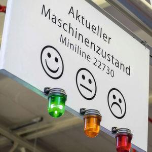 Effizienz im Blick: Die Smileys signalisieren dem Anlagenfahrer, ob seine Maschinen störungsfrei laufen.