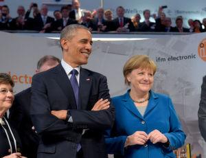 Barack Obama und Angela Merkel auf der Hannover Messe 2016.