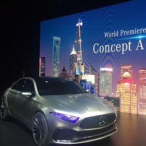 Daimler zeigt auf der Autoshanghai mit der seriennahen Studie Mercedes Concept A Sedan einen ersten Ausblick auf eine neue Generation.