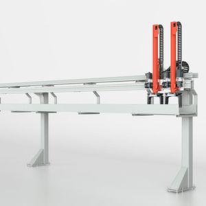 Das Ladeportal LP 100 kann auch mit größeren Abständen zwischen den Stützen gebaut werden.
