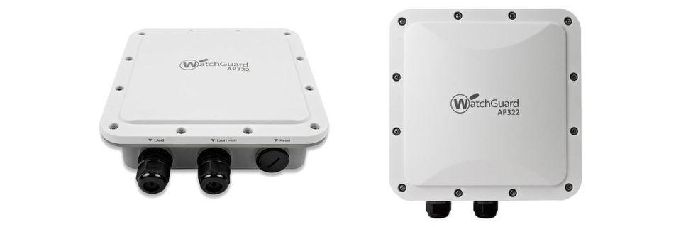 Der für den Einsatz im Freien konzipierte WatchGuard AP322 ist mit zwei Gigabit-Ethernet-Ports ausgestattet.