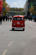 ...old VW vans are used for the shuttle service.
