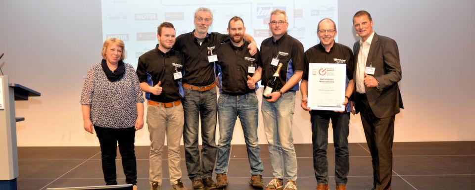 Verdienter Sieger in der Kategorie Freie Werkstatt: Motorradtechnik Schäufele aus Kirchheim/Teck.