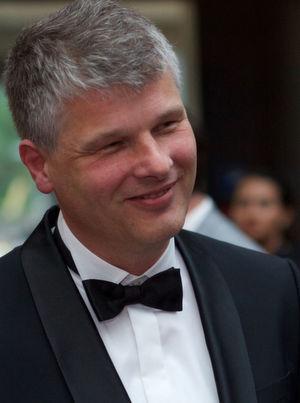 Ulrich Terrahe auf der Gala zum Deutschen Rechenzentrumspreis.