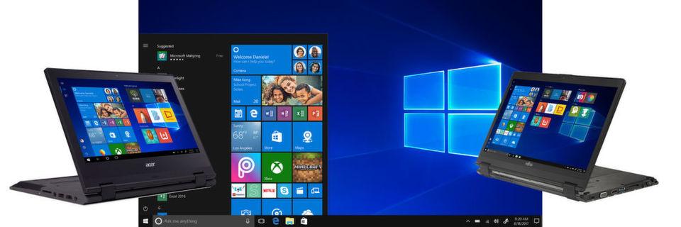 Mit Windows 10 S will Microsoft Schulen und anderen Anwendern ein schlankes und sicheres Windows bieten. Gleichzeitig sollen günstige Windows-10-S-Notebooks den Vormarsch der Chromebooks an den Schulen in den USA stoppen.