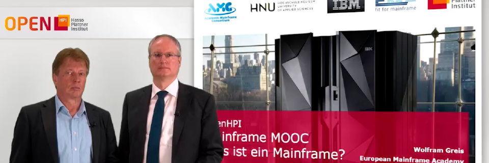 Wolfram Greis und Philipp Brune bei der Vorstellung des Online-Mainframe-Kurses