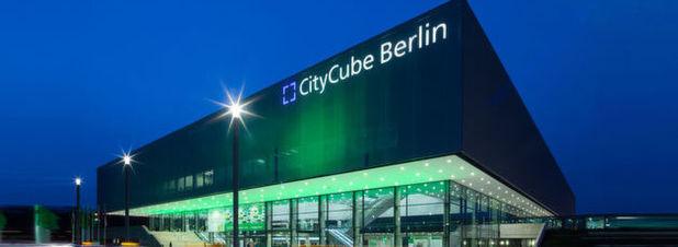 Der City Cube in Berlin ist Schauplatz der Startup-Messe, die vom 10. bis zum 12. Mai stattfindet.