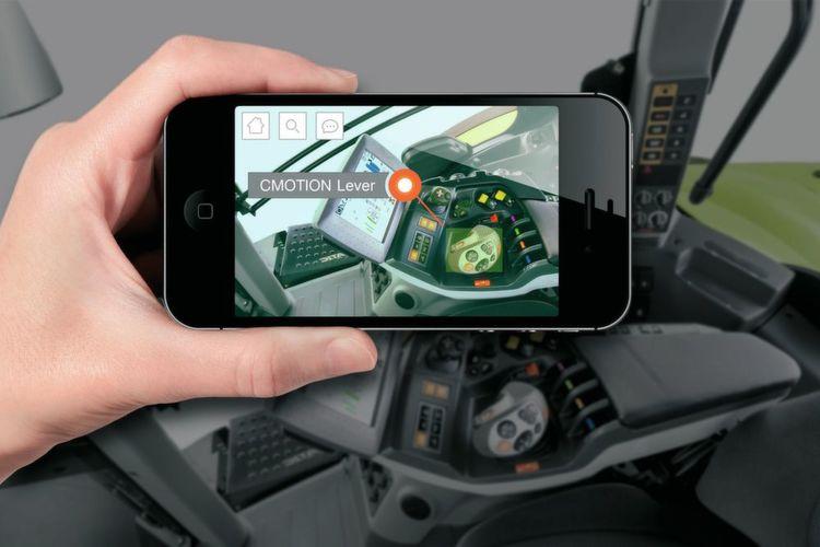 Der Tractor Interactive Guide von Claas ist eine virtuelle Bedienungsanleitung für die Fahrerkabine.
