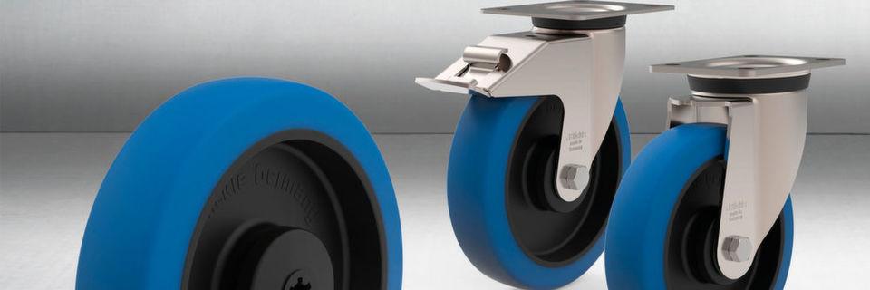 Der dicke Belag der Radserie POBS sorgt für komfortablen, geräuscharmen Lauf und hinterlässt keine Spuren oder Verfärbungen auf den Fahrwegen.