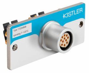 Der Mehrkanalstecker Typ 1722 ist laut Kistler robust im Handling und bietet einen einfacheren Anschluss von Single-Wire-Kabeln, der einen optimalen Schutz gegen Verunreinigung garantiert.