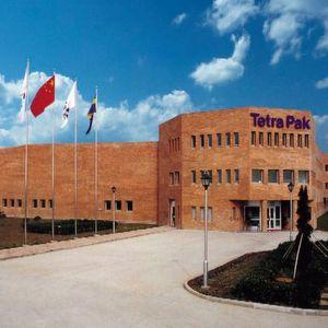 Blick auf der Tetra Pak-Produktionswerk im chinesischen Kunshan