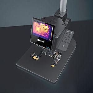 Elektronik auf dem Prüfstand: Die Wärmebildkamera Flir ETS 320 soll die Überwachung des Energieverbrauchs, die Erkennung von Hotspots sowie die Identifizierung potenzieller Schwachstellen bei der Elektronikproduktion ermöglichen.