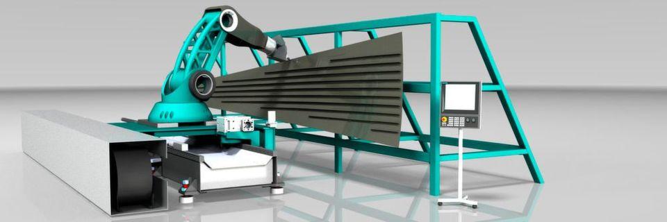 Fraunhofer Flexmatik 4.1 – innovatives Roboterdesign speziell konzipiert für die Bearbeitung.