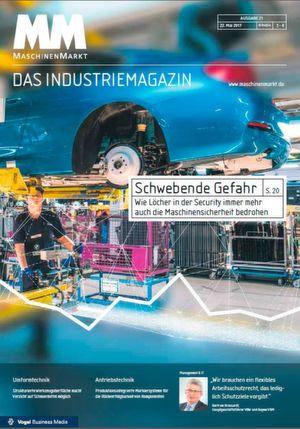 Der MM-Index auf dem Cover des MM MaschinenMarkt 21/2017
