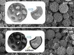 Die Ti4O7-Nanopartikel weisen große Poren auf, zeigt die Elektronenmikroskopieaufnahme.