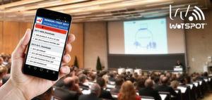 Mit dem WOTSPOT-WLAN-System haben Teilnehmer zugriff auf Konferenzunterlagen.