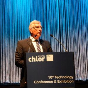 """""""Lassen Sie unsere Stimme für die Nachhaltigkeit gehört werden"""", erklärte Dieter Schnepel, Eurochlor Chairman, in Berlin."""