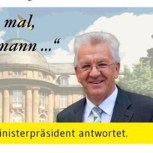 Online-Bürgersprechstunde bei Winfried Kretschmann