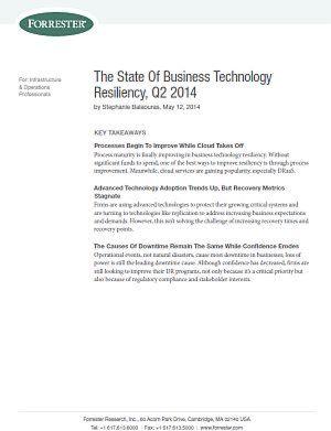 Zur aktuelle Lage der Widerstandsfähigkeit von Unternehmenstechnologien