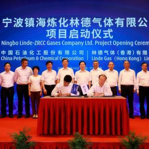 Sinopec and Linde Sign $ 160 Million Joint Venture