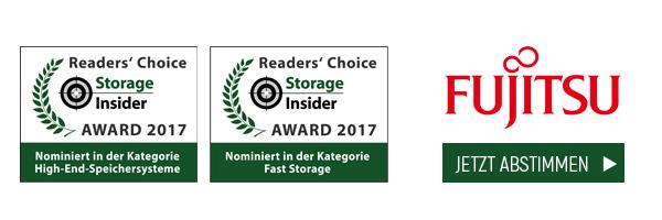Fujitsu ist nominiert in den Kategorien High-End-Speichersysteme und Fast Storage
