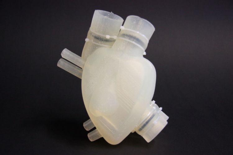 Soft heart from 3d-printer