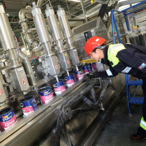 The factory will be capable of doubling AkzoNobel's current UK production levels to 200 million liters a year.