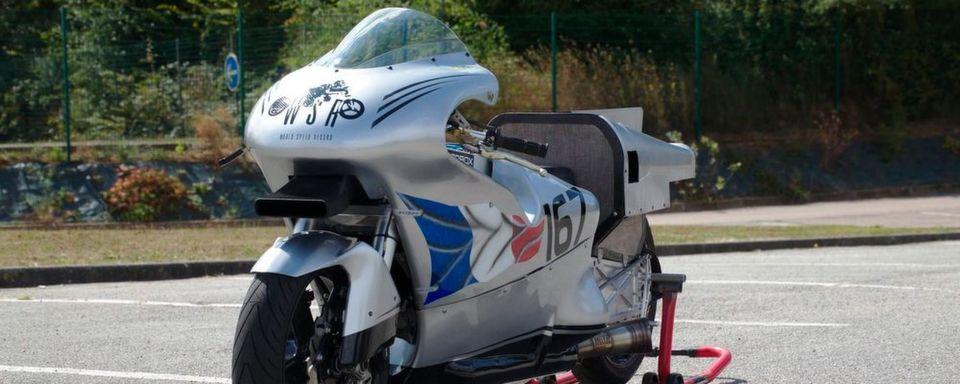Mehrere FIM Geschwindigkeitsrekorde sollen mit diesem Bike gebrochen werden.
